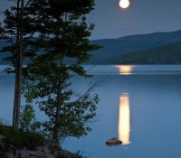 Lake Francis in moonlight
