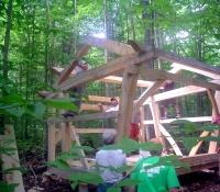Old Hermit Lean-to framework